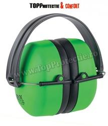 Cască antifon ABS, MAX 500 flexibilă, verde (31052), pliabilă