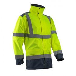 Jacheta de ploaie galben fluorescent KAZAN