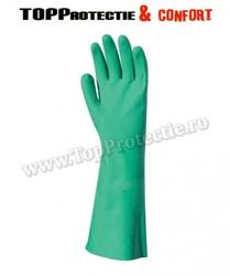 Manusi de protectie ,acrilonitril verde, necăptușiti (NBR)
