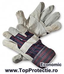 Manusi de protectie piele cu textil dungi pt Constructii