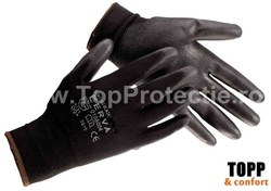 Manusi poliuretan protectie mecanica universala Bunting Black