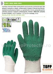 Manusi protectie cu Latex verde pe baza de apa 3810