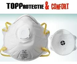 Masca de protectie cu supapa impotriva praf FFP1 SupAir