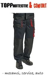 Pantaloni de lucru mecanic negru cu rosu Racer Service-Auto