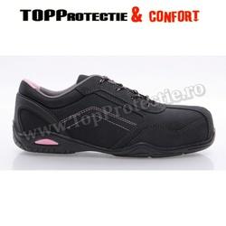Pantofi de dama protectie S3, calitate superioara, din piele nubuc