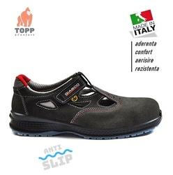 Pantofi -sandale protectie Peru cu bombeu usori piele