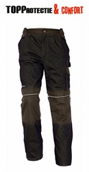 Salopeta de lucru pantaloni talie Stanmore bumbac 100% maro