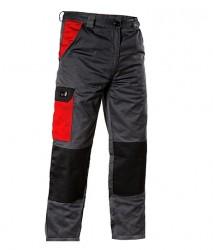 Pantalon talie vara de lucru gri cu rosu