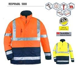 Geaca reflectorizanta 3M benzi rezistente galben portocaliu RESPIRABILA