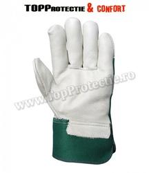 Manusi de protectie confortabile,piele integrala de bovina,rezistenta,gri