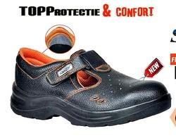 Sandale de protectie S1P, din piele de bovina, antistatica