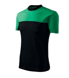 Tricou Bicolor ADL109 Verde-negru bumbac 200 grame