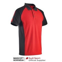Tricou polo cu guler Rosu/negru Mascot Audi