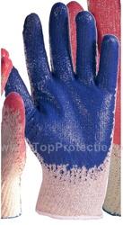 Manusi protectie impregnate in latex albastru rezistenta buna 3860