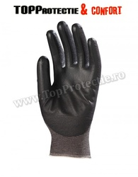 Manusi protectie cu palma imersata in poliuretan negru