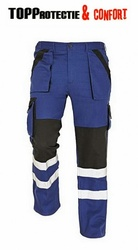 Pantaloni talie bumbac 100% MAX Reflex bicolor cu dungi reflectorizante