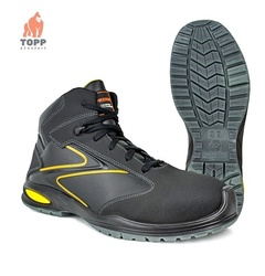 Bocanci flexibili Safety-Sport-Style negru cu galben