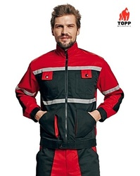 Jacheta de lucru rosu-negru Tayra