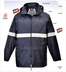 Jacheta de ploaie IONA vizibilitate benzi reflectorizante