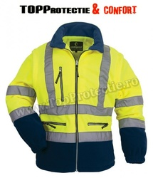 Jacheta fleece reflectorizanta maneci detasabile