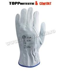 Manusi de protectie confortabile,din piele, pentru solicitare intensă