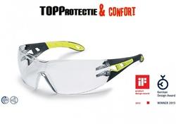 Ochelari protectie lucru sport rezistent UV 400 Made in Germany negru + verde Pheos