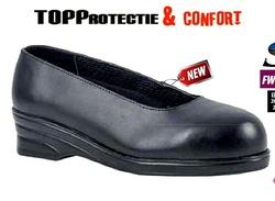 Pantofi protectie de dama S1, bombeu din metal