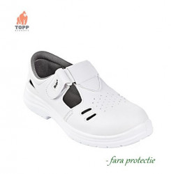 Sandale albe fara protectie O1 SRC cu fante de aerisire