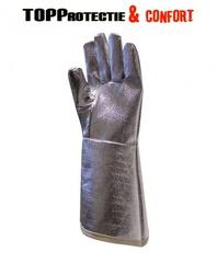 Manusi aluminizate cu fir aramidic,termorezistente si rezistente la taiere 38cm