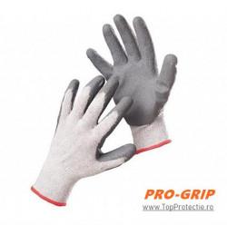 Pachet 12perechi Manusi protectie tricotate palma imersata PE gri
