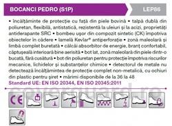 Bocanci protectie foarte usori Pedro Compozit