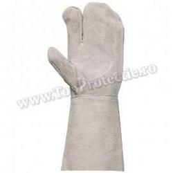 FINAL - Manusi de protetie sudori cu 2 degete piele gri 2517