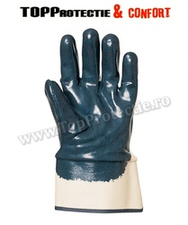 Manusi de protectie din bumbac imersat in nitril albastru