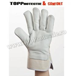 Manusi de protectie din piele de bovina,moale,grosime de 1,1 mm pentru solicitare intensa