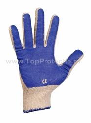 Manusi de protectie tricotate Scoter impregnate PVC albastru