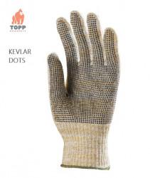 Manusi din tesatura Kevlar cu picouri PVC antiderapante