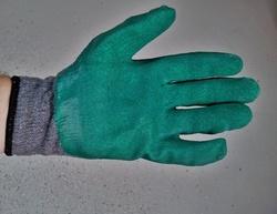 Manusi protectie impregnate cu Latex A-grip gri-verde