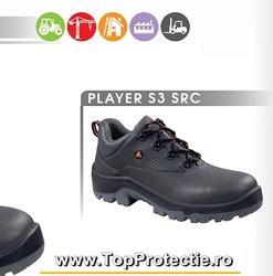 Pantofi de protectie cu talpa industriala piele gri S3 Player