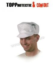 Șapcă din bumbac alb 100% model aerisit cu plasa