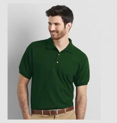 Tricou polo cu guler Gildan 3800 verde Forest green