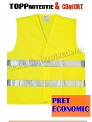 vesta reflectorizanta pret economic galben-fluorescent