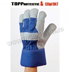 Mănuși piele pentru manipulare de ,calitate premium, grosime 1,3 mm,gri