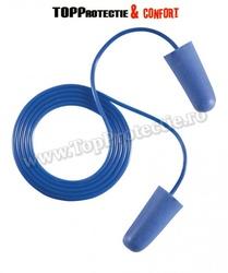 Antifoane interne din poliuretan moale,cu snur,albastre