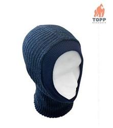 Cagula tricotata elastica de iarna NEAGRA