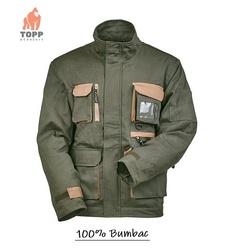 Jacheta de lucru 100% bumbac, verde vanatoresc Sniper