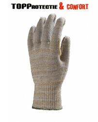 Manusi de protectie din fibre mixte cu minipicouri pvc antiderapante