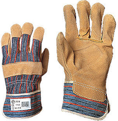 Manusi de protectie mecanica manipulant din piele combinat cu textil dungi 200
