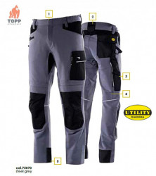Pantaloni flexibili Carbon HiTech Diadora Work & Outdoor