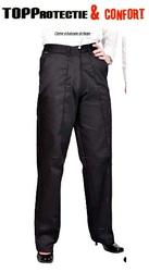 Pantaloni lucru dama, rezistenti la uzura, talie elastica