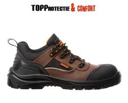 Pantofi de lucru S3 compozit, piele nubuc maro